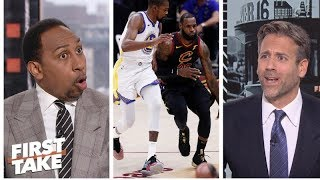 Stephen A., Max get heated on LeBron James vs. Kevin Durant   First Take   ESPN