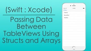 Passing Data Between Table Views using Structs and Arrays (Swift : Xcode)