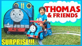 GIANT THOMAS AND FRIENDS SURPRISE TENT and Train Power Wheels