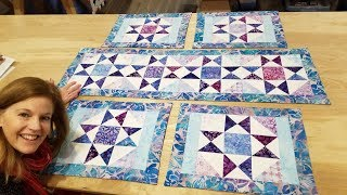 Donnas FREE PATTERN! 2 Charm Packs = 4 Placemats AND Table Runner!