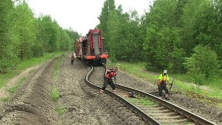 Выброс пути / Railway track buckle