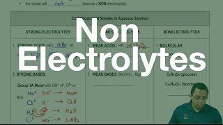 The Non Electrolytes