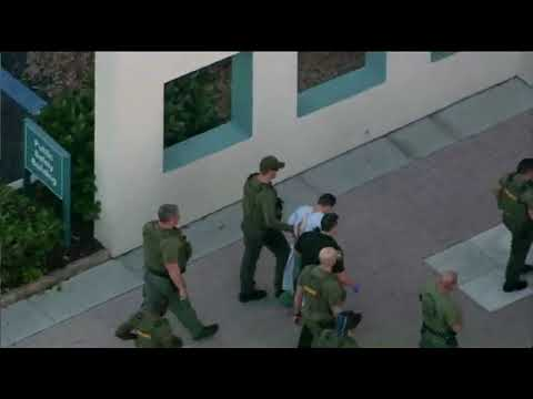 RAW VIDEO: Alleged Florida high school shooting suspect taken into police department