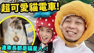 超可愛的貓電車!!連車長都是貓星人~@!|日本・和歌山之旅 Day 3