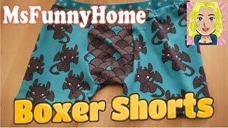 Anleitung und Schnitt zum Nähen : Boxer Shorts - Jersey Schnittmuster Underwear