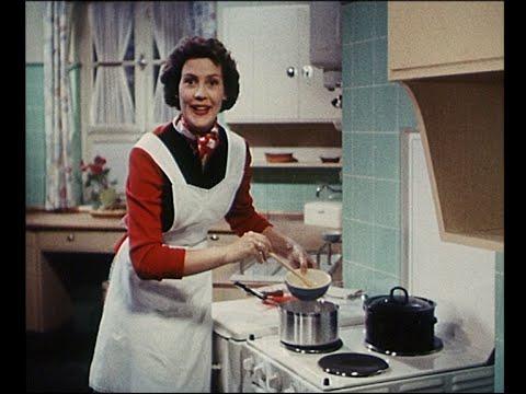 "Dr. Oetker Werbefilm ""Wenn mans eilig hat"" mit Frau Renate 1954"