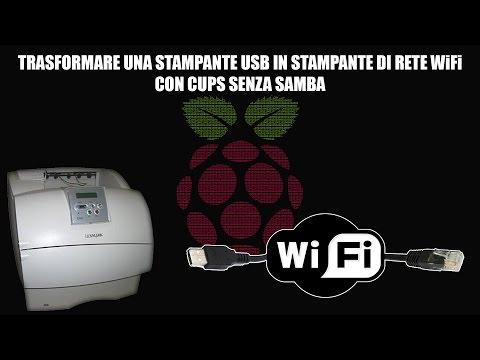 Trasformare una stampante USB in stampante di rete WiFi - CUPS (NO SAMBA)
