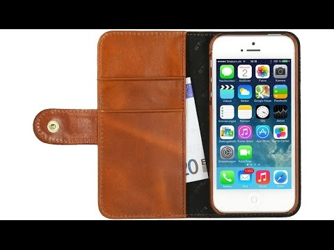 Handyhülle für Apple iPhone 5 & 5s aus echtem Leder von StilGut
