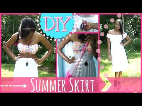 DIY Maxi Skirt ♡  Update Your Wardrobe for Summer (No Sew)