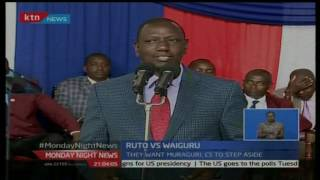 Monday Night News: ODM claim govt perpetrating graft as Ruto fights Waiguru, November 7th 2016
