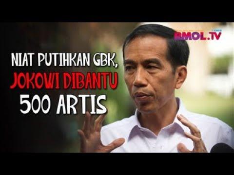 Niat Putihkan GBK, Jokowi Dibantu 500 Artis