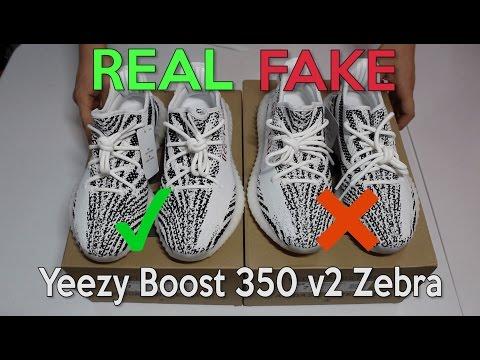 YEEZY BOOST 350 V2 ZEBRA Real Vs. Fake (LEGIT CHECK)