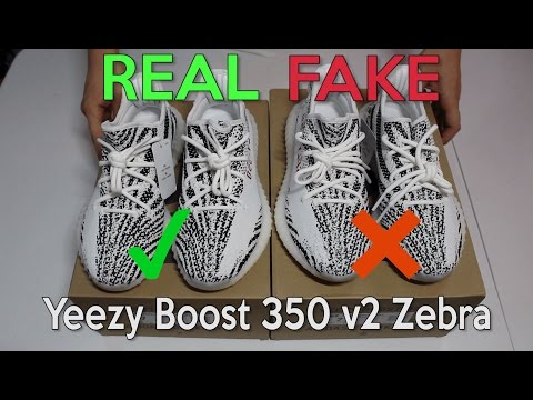 YEEZY BOOST 350 V2 ZEBRA Real Vs. Fake (LEGIT CHECK)