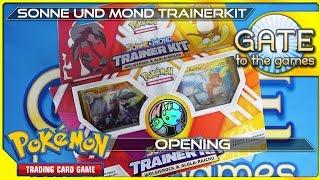 Pokemon Sonne und Mond Trainer Kit Wolwerock & Alola Raichu Unboxing Opening