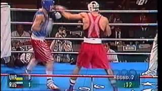 В.Кличко(Ukr) - А.Лёзин(Rus) ОИ-96 Атланта, полуфинал.mpg