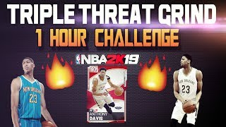 1 HOUR TRIPLE THREAT CHALLENGE! Nba 2k19 Myteam Gameplay SUBSCRIBERS Pick my LINEUP
