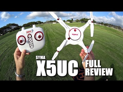 SYMA X5UC Camera Drone - Full Review - [UnBoxing, Inspection, Setup, Flight Test, Pros & Cons]