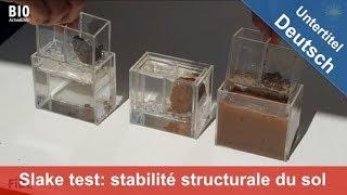 Slake test : visualiser la stabilité structurale du sol – présenté au Salon Tech & Bio 2017