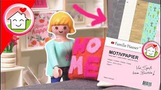 Playmobil Familie Hauser - Wohnhaus neu einrichten im Herbst - Miniature DIY - Motivpapier WERBUNG