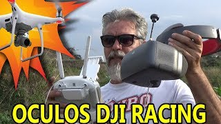 DRONE explorador com DJI GOGGLES RACING wanzam fpv