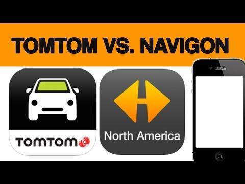 TomTom vs. Navigon gps app for iPhone Android Samsung Full Review