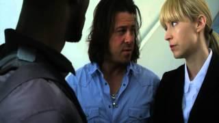 Leverage - Parker and Eliot shove Hardison over the railing (episode clip)