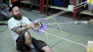 Рогатка для стрельбы арбузами своими руками