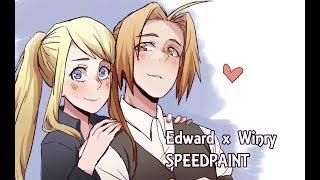 FULLMETAL ALCHEMIST - Edward x Winry Speedpaint [SAI]