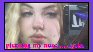 Piercing My Nose... Again || Livsfried