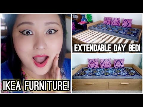 REQUESTED VIDEO: IKEA BRIMNES Extendable Day Bed With 2 Drawers | Hate Watched Him lol - VLOG #77