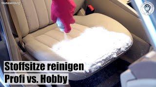 Stoffsitze reinigen I 2 Methoden I Hobby vs. Profi I AUTOLACKAFFEN