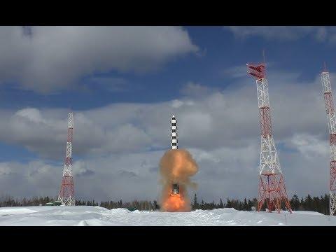 Минобороны показало видео испытания межконтинентальной ракеты «Сармат»