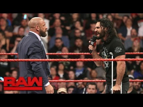 Seth Rollins signs Triple H's Hold Harmless Agreement: Raw, March 27, 2017