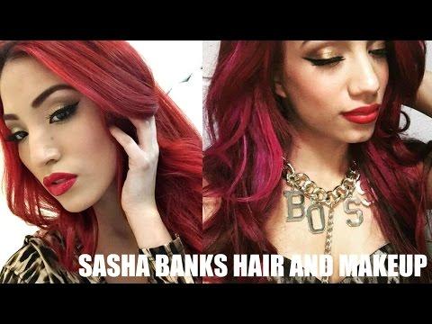sasha banks inspired makeup and hair wwe