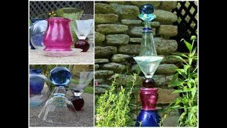 Easy DIY Glass Garden Art Totem (with Thrift Store Finds!)