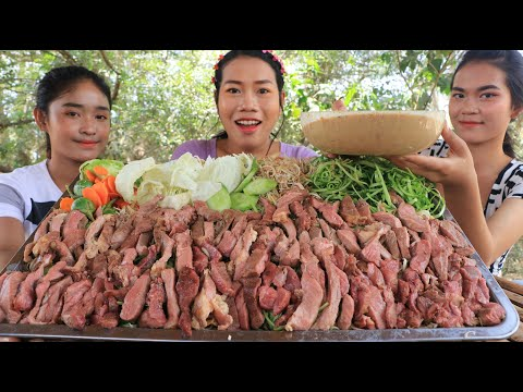 Yummy cooking beef grilled with shrimp paste recipe