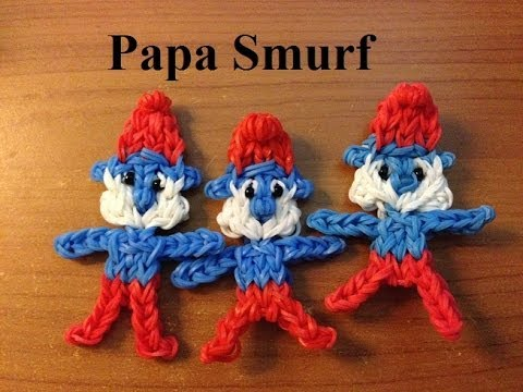 Rainbow Loom Papa Smurf Doll or Charm