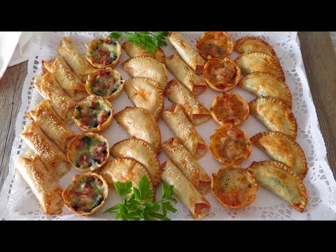 Empanadillas al horno (CANAPÉS ): 6 recetas económicas, fáciles y rápidas  (SIN FREÍR)