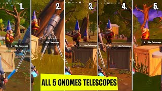 All (5) Telescope gnomes  location in fortnite chapter 2 season 2! For the Gnomes Challenge 40,000XP