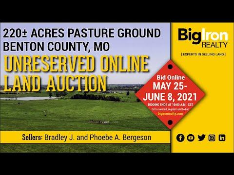 Land Auction 220+/- Acres Benton County, MO