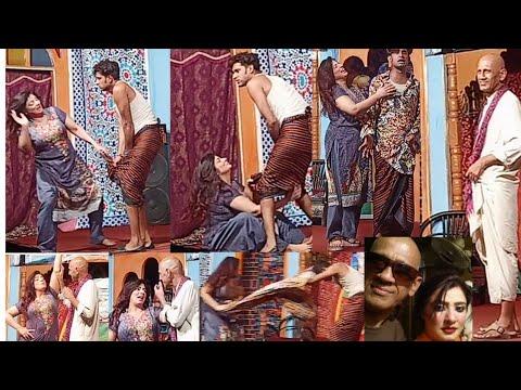 """Bus kar laila"" comedy stage drama Laila raj. nayyar abbas. zahid minhas sangam theatre multan."