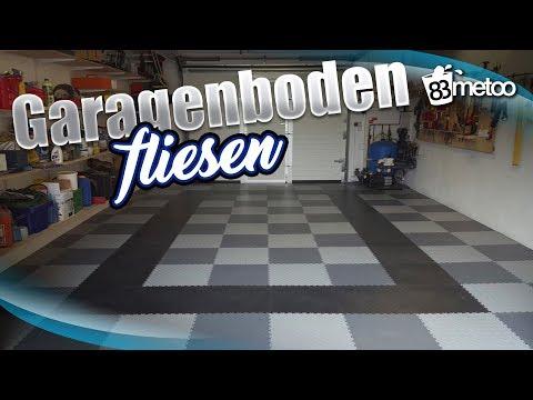 Garagenboden Fliesen mit PVC Bodenbelag von Fortelock - Garagenboden im Schachbrett Muster