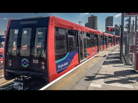 A Drivers View on The Docklands Light Railway 14th June 2017…