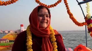 Anandmurti Gurumaa in Prayagraj Kumbh 2019