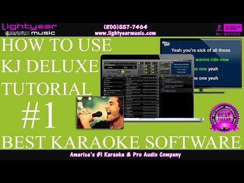 How To Use | KJ Deluxe Karaoke Software | DJ / Karaoke Software Tutorial | Lightyearmusic ✅