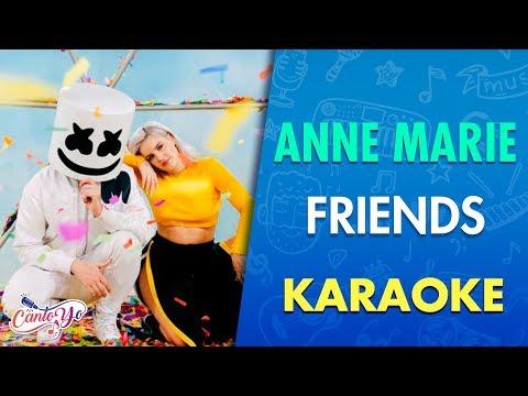 gratis download video - Marshmello & Anne- Marie - Friends (Karaoke) I CantoYo