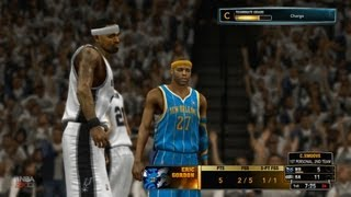 NBA 2K13 My Career Playoffs QFG4 - Eric Gordon's 54 Point Performance!