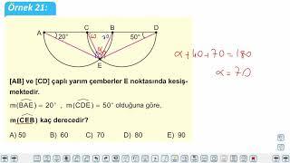 Eğitim Vadisi 11.Sınıf Matematik 12.Föy Çember ve Daire 4 (Çemberde Açılar Soru Çözümü) Konu Anlatım Videoları