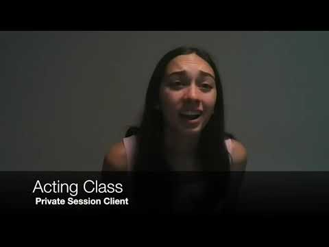 Online acting student performing a monologue and live coaching session. This monologue was performed after 5 months of working with me.