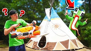 NERF HIDE & SEEK IN THE FOREST!